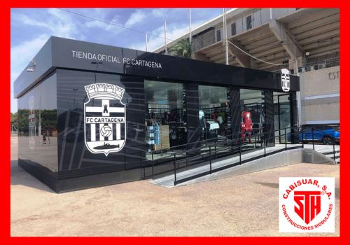 Tienda modular oficial Futbol Club Cartagena - Proyectos Cabisuar
